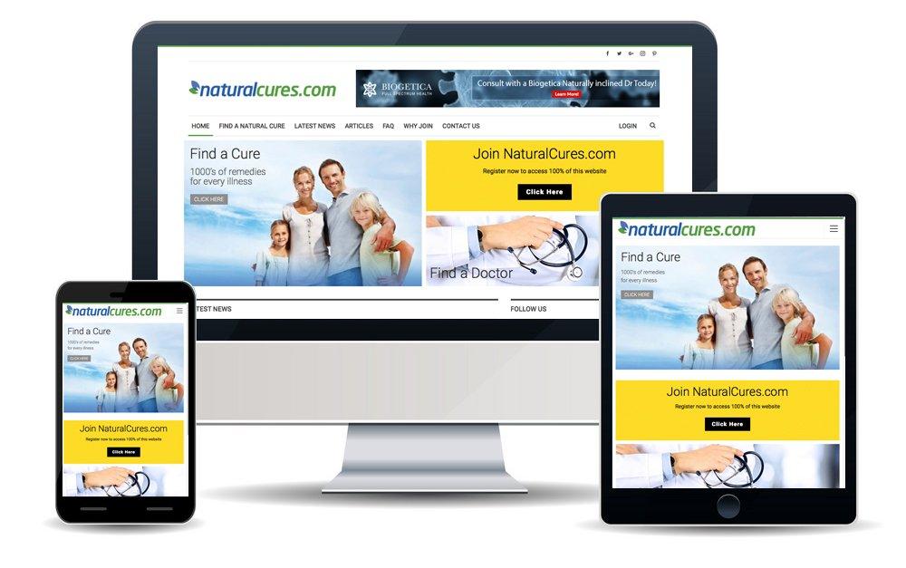 Natural Cures Web Design