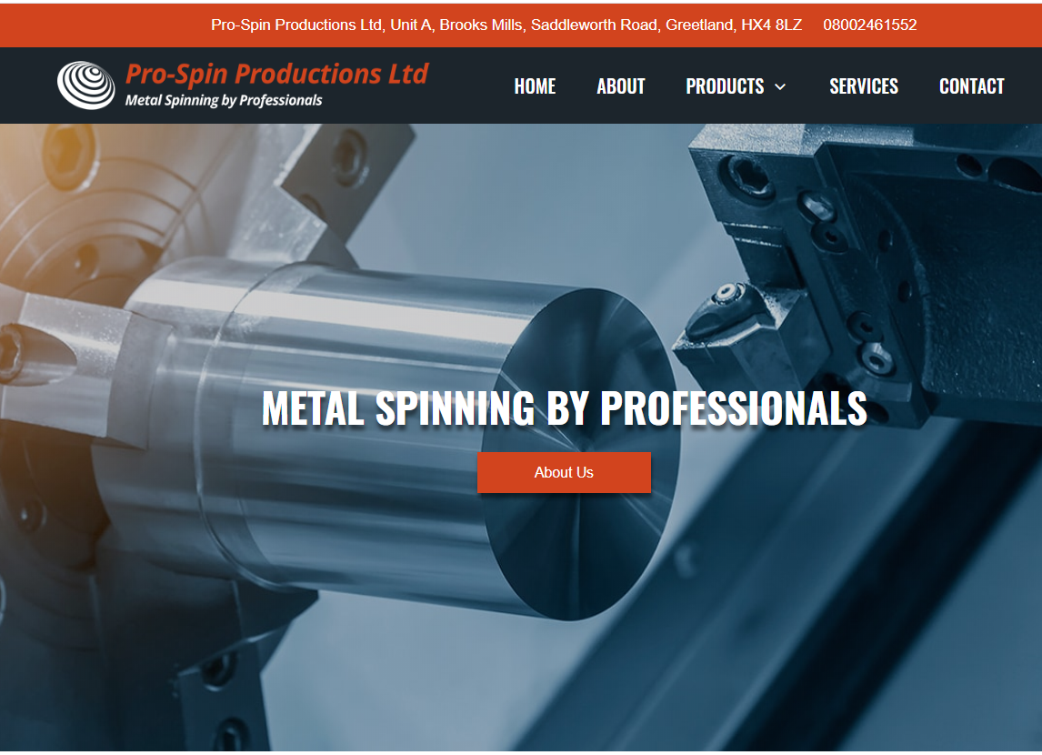 A brand new website for our clients Pro-Spin