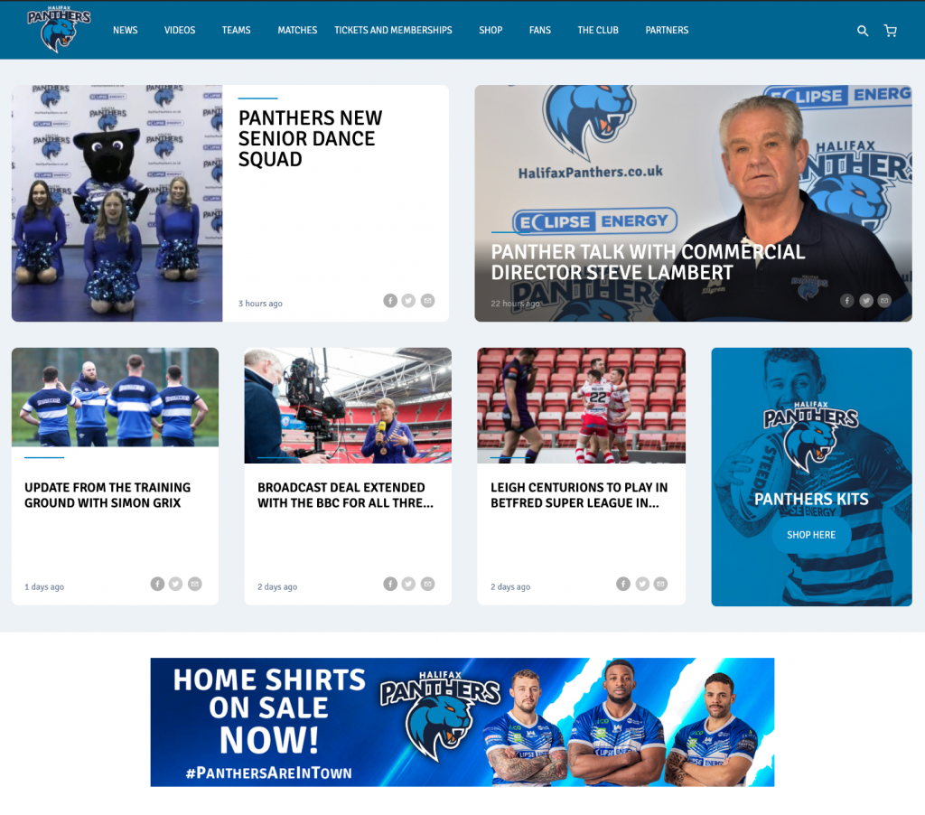 Halifax Panthers Website - Home Page